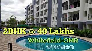 Affordable Luxury 2BHK at 40 Lakhs Near Whitefield OMR