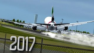 New Flight Simulator 2017 | Hard Landing with Severe Turbulence [P3D 3.4 - Ultra Realism]