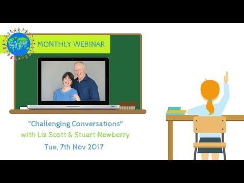 Challenging Conversations with Liz Scott and Stuart Newberry Post presentation Q&A