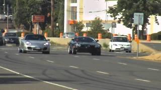 Mercedes McLaren SLR Vs Porsche 911 Turbo Street Racing New York
