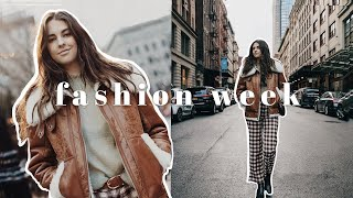 come with me to new york fashion week | vlog