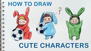 How to Draw Cute Characters Step by Step