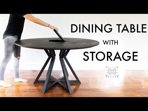 How to Build a Dining Table with Storage // Woodworking // DIY Modern Furniture