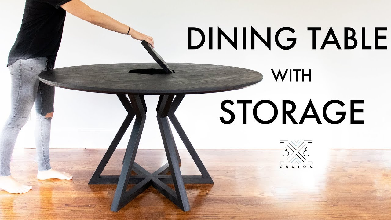 how to build a dining table with storage woodworking diy modern furniture