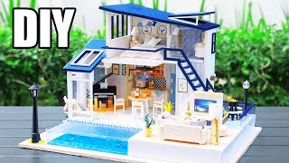 DIY Miniature Dollhouse Kit || The Legend Of The Blue Sea ( With Full Furniture & Lights )