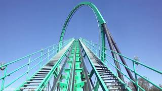 Riddlers Revenge Front Seat (HD POV) Six Flag