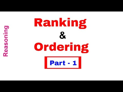 Ranking and Ordering Tricks for Bank PO | Clerk | SSC [in Hindi] Part 1