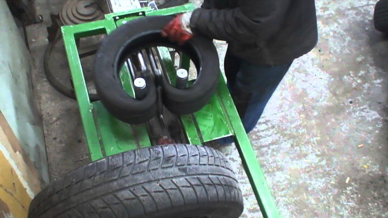 triplage de pneus insertion de 2 pneus dans un youtube. Black Bedroom Furniture Sets. Home Design Ideas