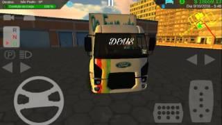 Heavy truck / Ford Cargo, Baú Ford/ skins personalizada