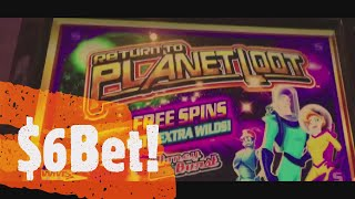 I GOT UNEXPECTED JACKPOT HANDPAY! + PLANET LOOT SLOT MACHINE LIVE PLAY!