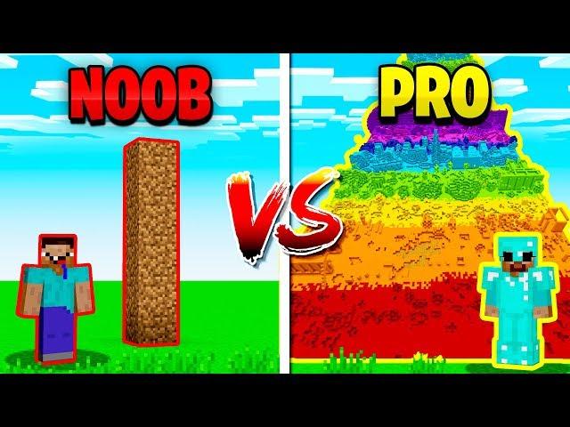 MINECRAFT NOOB vs PRO TALLEST TOWER!