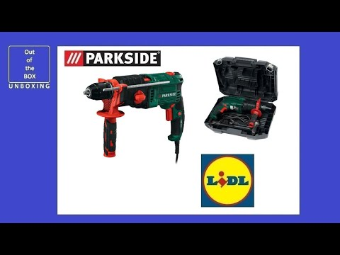 Parkside 2-Speed Hammer Drill PSBM 1100 A1 UNBOXING (Lidl 1100W 40mm wood 16mm concrete 13mm steel)