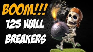 Clash of Clans: 125+ All Wall Breaker 3 Star Raid
