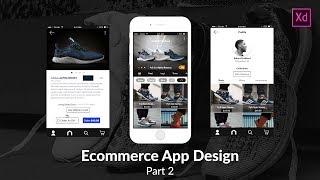 Designing an ecommerce app in Adobe XD Part 2 (SpeedArt)