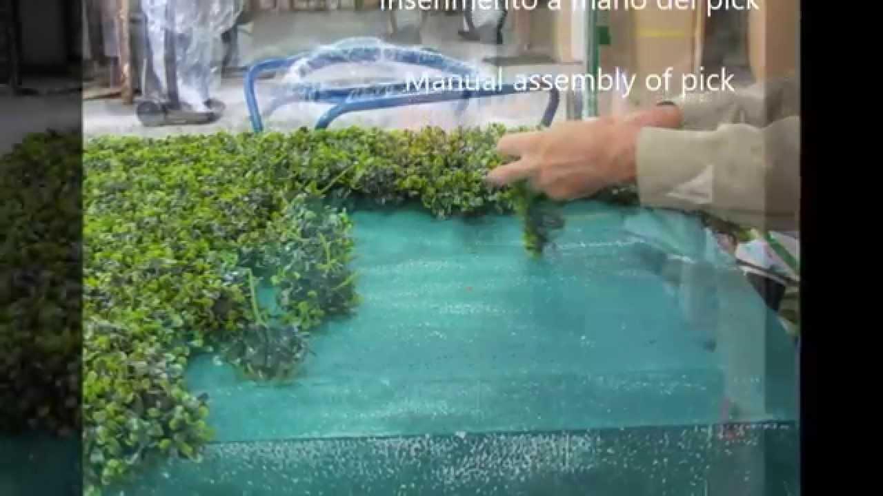 Siepi Da Giardino Finte : Siepe finte artificiali autoportanti: come le realizziamo youtube