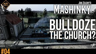 Bulldozing a church. Not a great idea. Let's play Mashinky gameplay #4