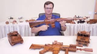 Handcrafted Mahogany Wood Gun From Premium Wood Designs