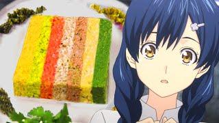 We made the HARDEST Food Wars Recipe - RAINBOW TERRINE!  Feast of Fiction
