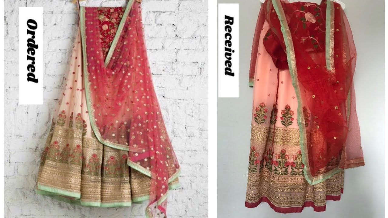 I Bought Lehenga From Mirraw Com Online Shopping Review Ethnic Wear