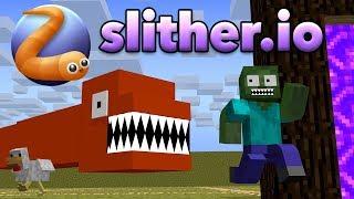 Monster School SLITHER.iO CHALLENGE Minecraft Animation