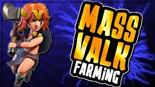 NEW QUEEN WALK MASS VALKYRIE FARMING - PUSHING STRATEGY | Clash of Clans