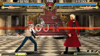 Fate/Unlimited Codes: PSP Gameplay - Shiro vs Archer