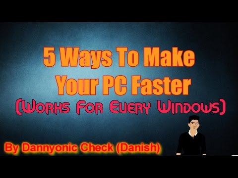 How To Make Your Computer Faster Windows 7/8/8.1/10