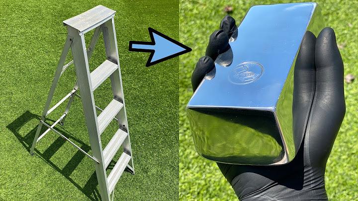 Permanent Link to How Much Aluminum In a 5ft Ladder – Big Bars – ASMR Metal Melting – BigStackD Casting Bars & Skulls