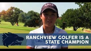 Ranchview Golfer is a State Champion | CFBISD athletics