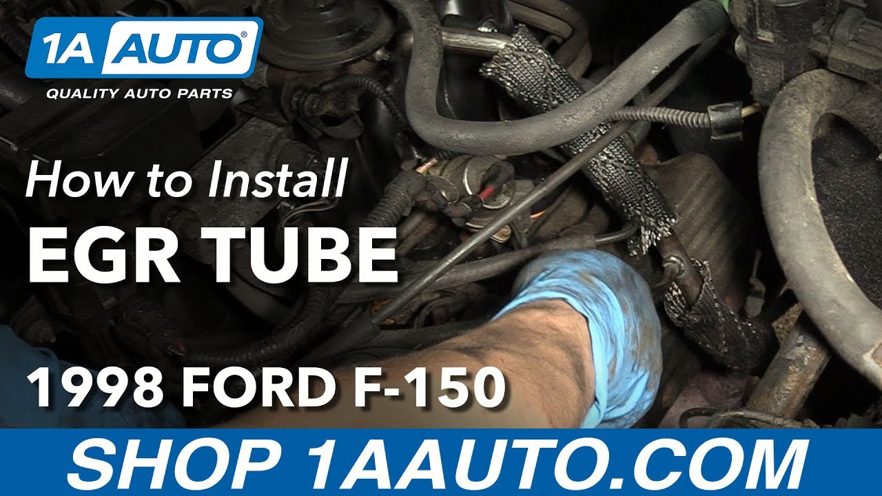 How to Replace EGR Tube V8 4.6L 97-00 Ford F-150 - YouTube  Ford F Engine Parts Diagram L on