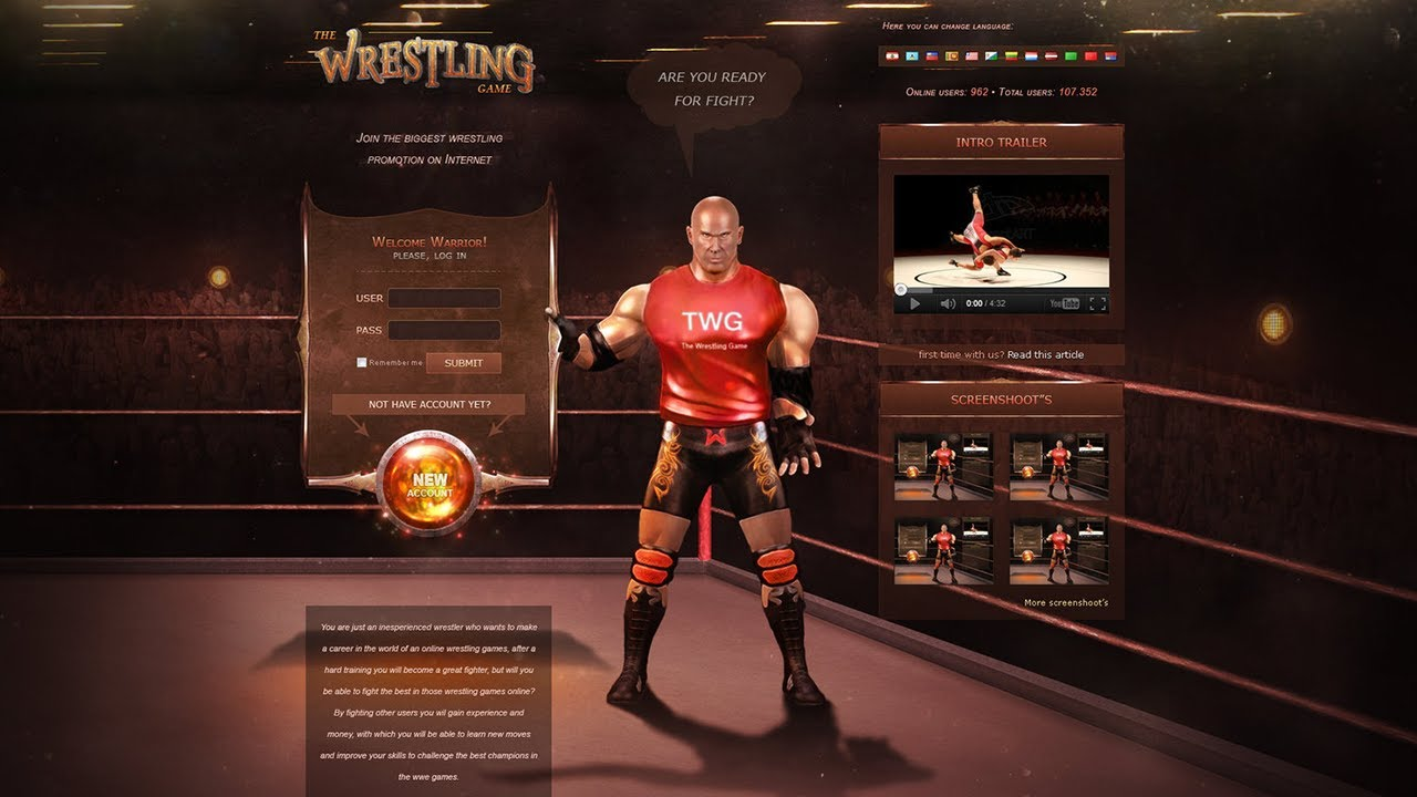 The Wrestling Game - Free 2 Play Wrestling MMO - YouTube