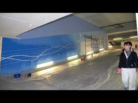 Fresque murale trompe l'oeil - CGGVeritas -