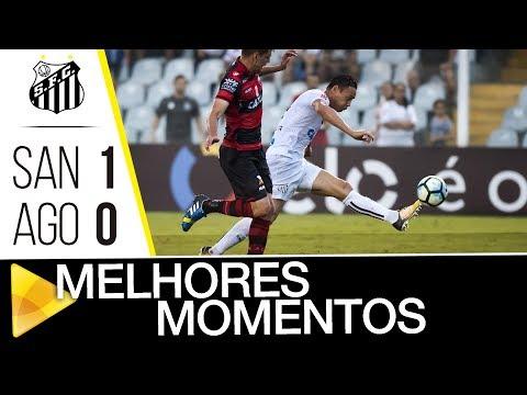 Santos 1 x 0 Atlético-GO | MELHORES MOMENTOS | Brasileirão (22/10/17)
