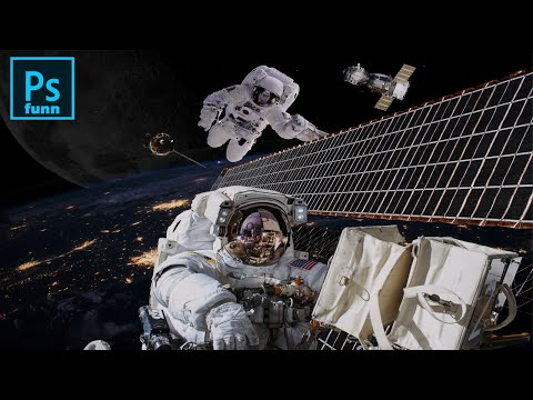 Space composition Photoshop Tutorial thumbnail