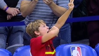 Coach's Son Has Epic Reax to Tim Hardaway Jr.'s Clutch 3-Pointer To Send the Game To OT!