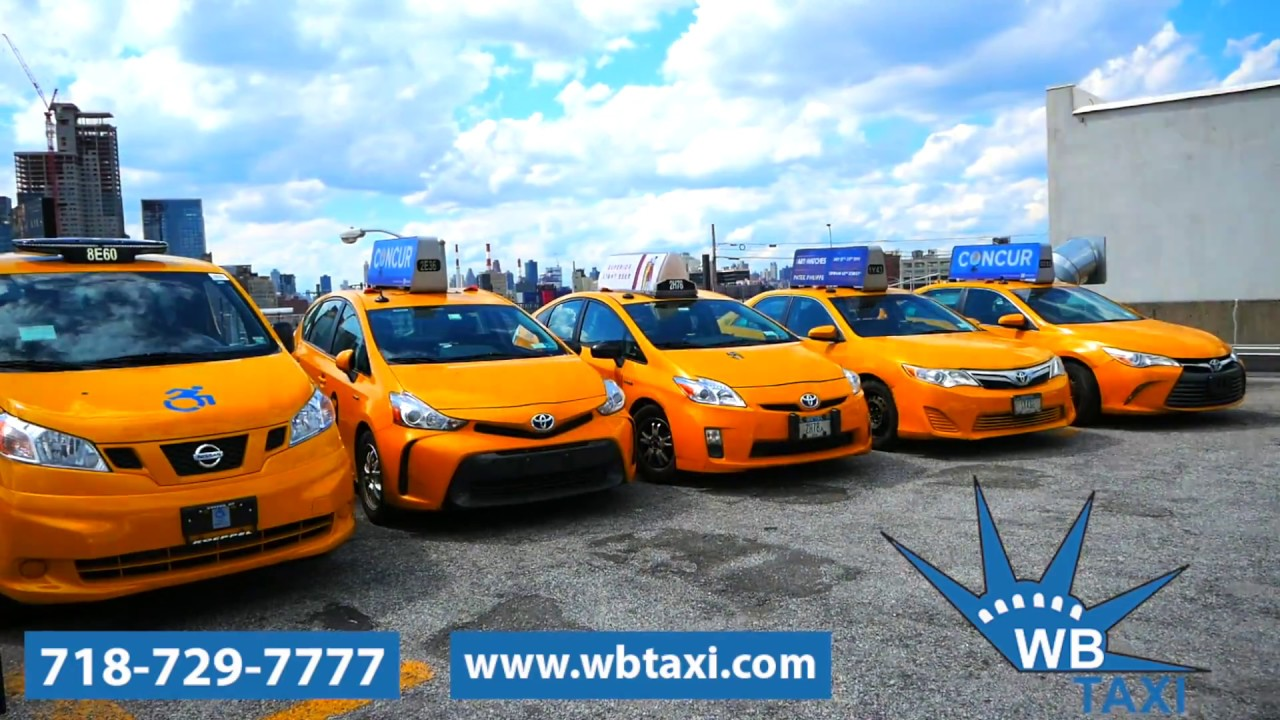 NYC UBER & TAXI DRIVERS LEASE A YELLOW CAB FROM WB TAXI WITH TLC LICENSE  NY1 COMMERCIAL SPECTRUM TWC