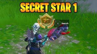 Find The Secret Battle Star in loading Screen #1 Season 9 Fortnite ( WEEK 1)