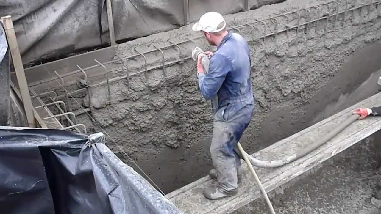 Sprayed Concrete In Ground Swimming Pool Construction Stage Youtube