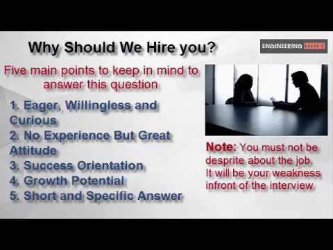 Interview Question: Why Should We Hire You? Best Way To Answer To  Interviewer