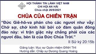 HTTL AN HẢI - Chương Trình Thờ Phượng Chúa - 26/09/2021