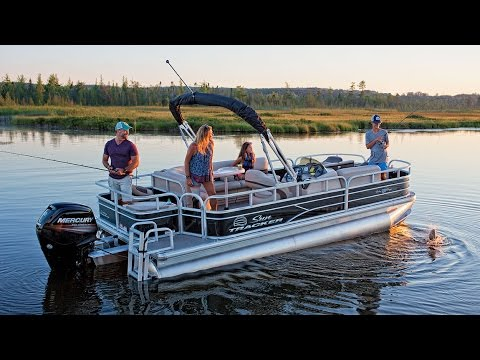 SUN TRACKER Boats 2017 FISHIN BARGE 20 DLX Fishing Pontoon Boat
