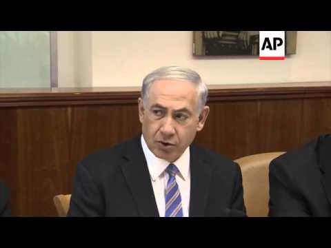 Israeli cabinet weekly meeting, PM on Palestinian unity government