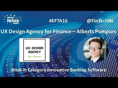 UX Design Agency for Finance Alberts Pumpurs in Inn. Banking Software at EU FinTech Awards 2016