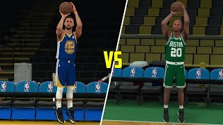 Stephen curry vs ray allen three point contest! who is better? nba 2k18 challenge!