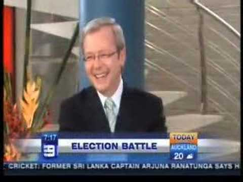 Kevin Rudd on the Today Show - Eating his own ear wax!