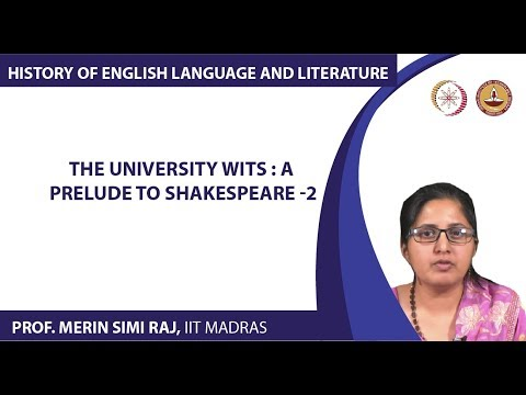The University Wits : A Prelude to Shakespeare