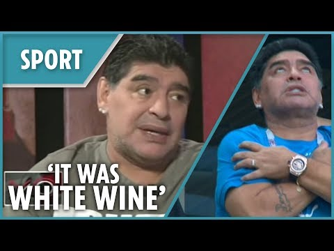 Maradona speaks out about his odd behaviour during the World Cup