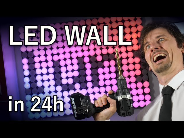 DIY LED Video Wall made in 24 hours