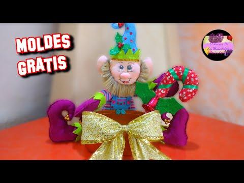 Duende o gnomo dulcero navideño muy creativo pasó a paso (Moldes ...
