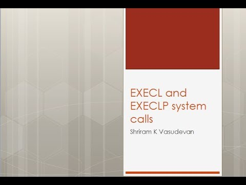 execl and execlp system calls in Linux/Unix.